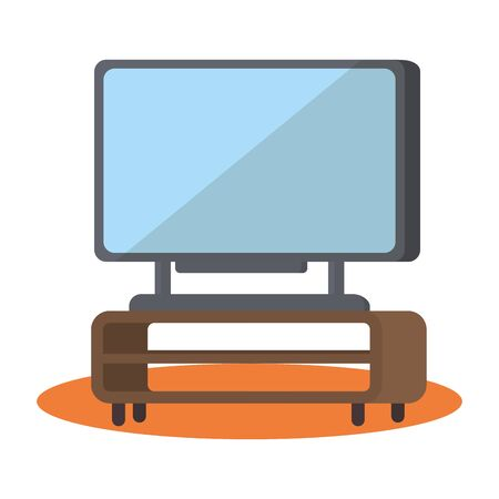Tv device design, Television gadget technology electronic video and home theme Vector illustration  イラスト・ベクター素材