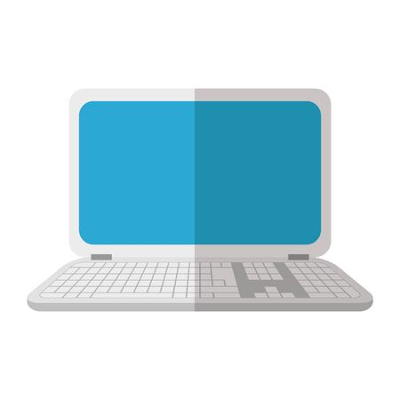 Laptop design, Digital technology communication social media internet web and screen theme Vector illustration  イラスト・ベクター素材