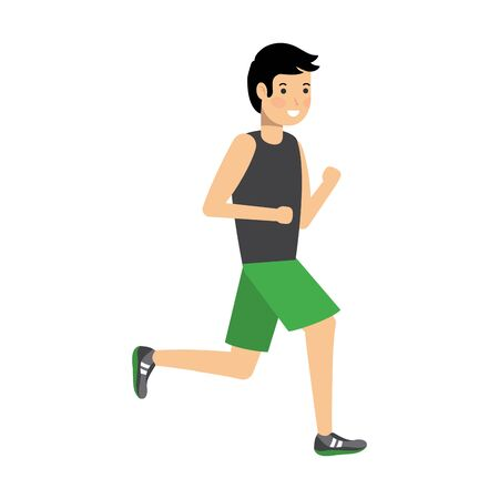 Man running design, Healthy lifestyle Fitness bodybuilding bodycare activity and exercisetheme Vector illustration