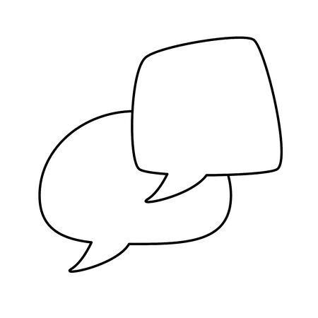 Communication bubbles design, Message discussion conversation talk and technology Vector illustration Banco de Imagens - 132691956