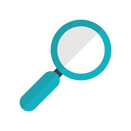Lupe design, Tool search magnifying glass zoom lens and exploration theme Vector illustration