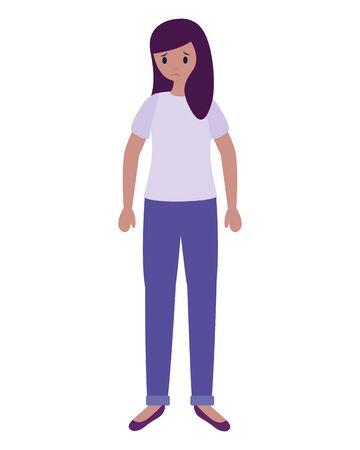 girl with mental psychological depressed vector illustration Illustration