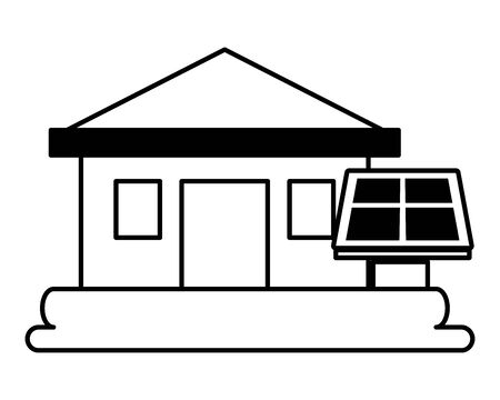 house solar panel eco friendly environment vector illustration Archivio Fotografico - 132682967