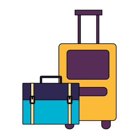Bags design, Baggage luggage tourism travel vacation trip journey and accessory theme Vector illustration Иллюстрация