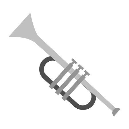 trumpet instrument music festival vector illustration design