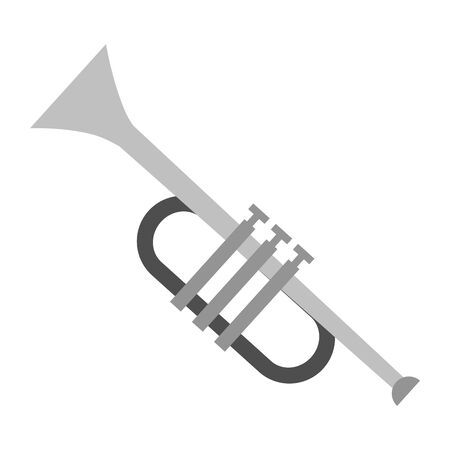 trumpet instrument music festival vector illustration design