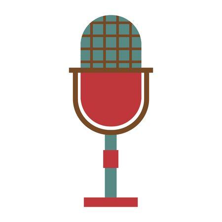 retro vintage microphone on white background vector illustration Ilustração