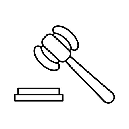 Hammer design, Law justice legal judgment judicial authority freedom and crime theme Vector illustration Illustration
