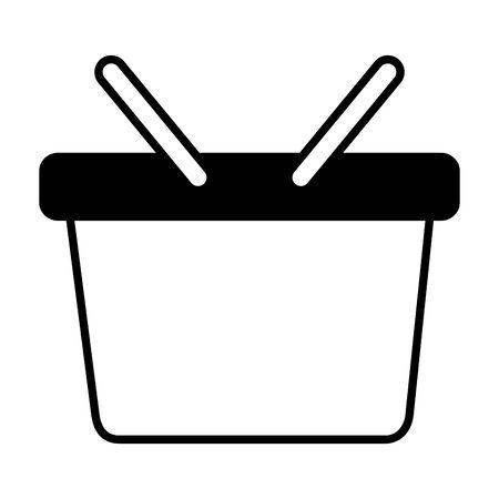 shopping basket ecommerce on white background vector illustration