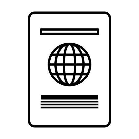 passport international id on white background vector illustration