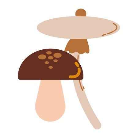 fungus autumn seasonal isolated icon vector illustration design