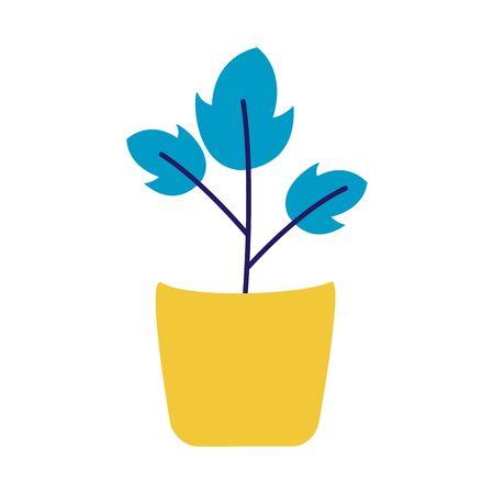 Plant inside pot design, Garden ornament nature botany natural and floral theme Vector illustration