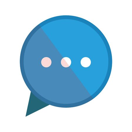Communication bubble design, Message discussion conversation talk and technology Vector illustration