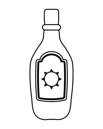 tequila bottle mexican isolated icon vector illustration design