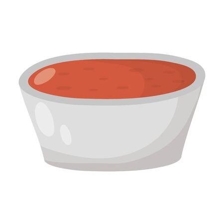 kitchen dish with sauce icon vector illustration design