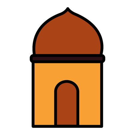temple dome architecture culture on white background vector illustration Stock fotó - 132700207