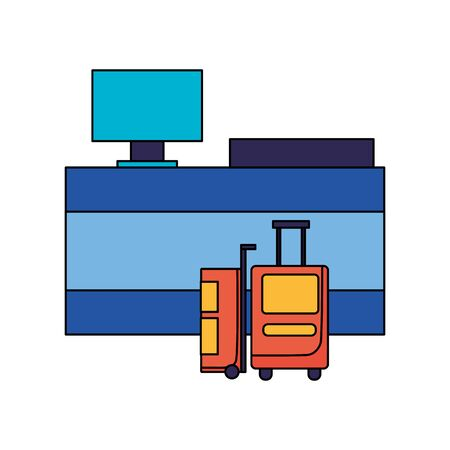 Bags design, Baggage luggage tourism travel vacation trip journey and accessory theme Vector illustration Ilustracja