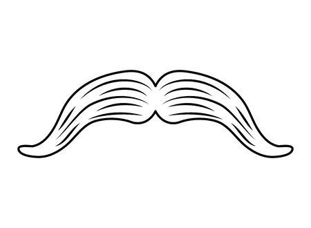 mexican macho mustache isolated icon vector illustration design