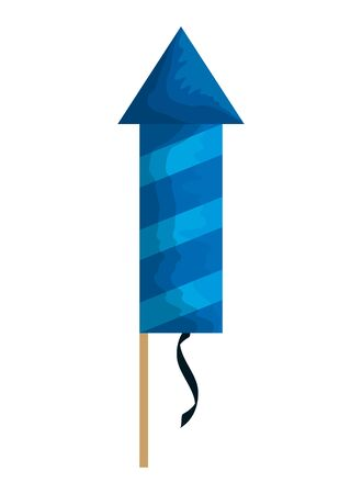 party firecracker isolated icon vector illustration design