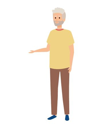 cute grandfather avatar character vector illustration design Фото со стока - 132715840