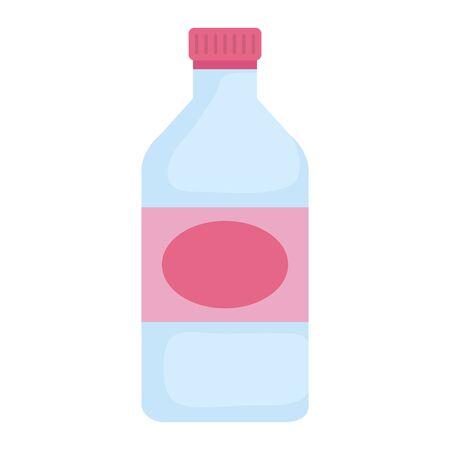Verre bouteille isolé conception d'illustration vectorielle icône Vecteurs
