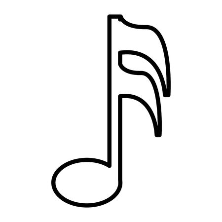 music note isolated icon vector illustration design Banco de Imagens - 132727450