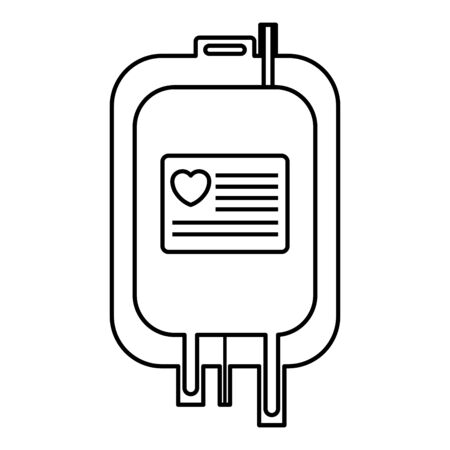 blood bag donation icon vector illustration design Vectores