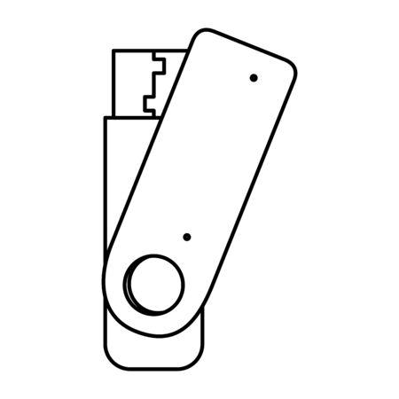 usb memory flash icon vector illustration design Stock Vector - 132742867