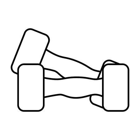 weight lifting dumbbell icon vector illustration design