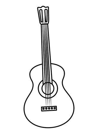 guitar musical instrument icon vector illustration design