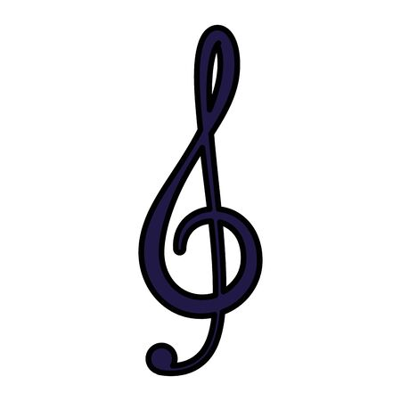 music note isolated icon vector illustration design Stock Illustratie