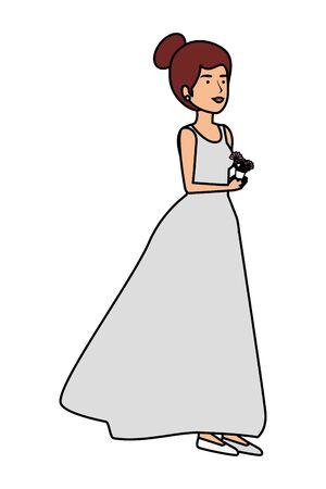 recently married woman character vector illustration design Standard-Bild - 132855861