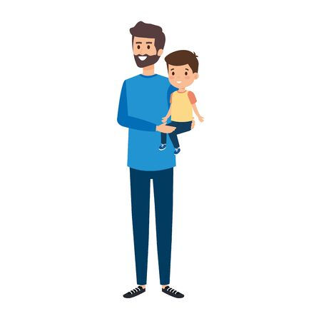 young father with son characters vector illustration design Standard-Bild - 132860500