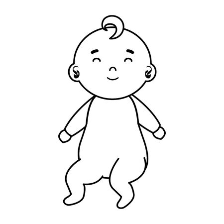 little male baby character vector illustration design