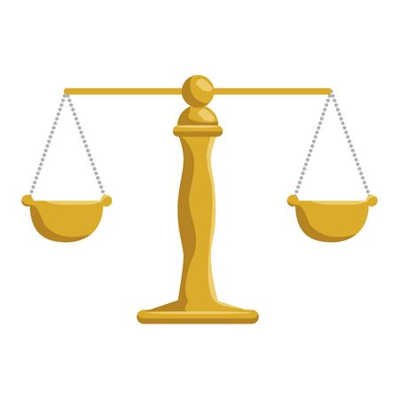 justice balance isolated icon vector illustration design Stock Vector - 132858460