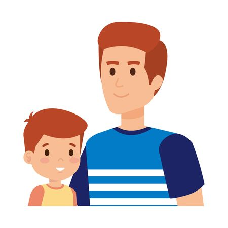 young father with son characters vector illustration design Standard-Bild - 132874576