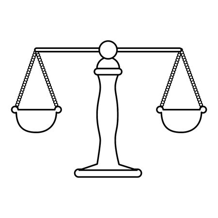 justice balance isolated icon vector illustration design Stock Vector - 132874707