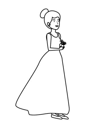 recently married woman character vector illustration design Standard-Bild - 132855759
