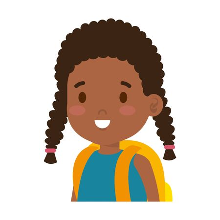 little african girl kid character vector illustration design