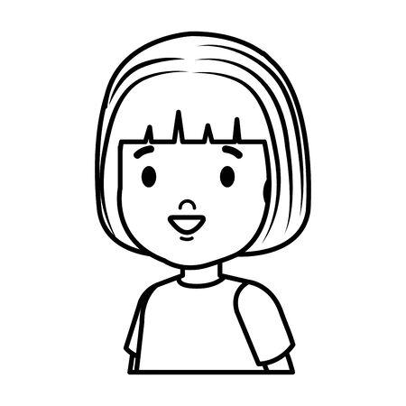 little girl kid character vector illustration design Illustration