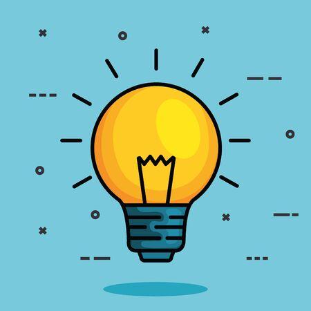 bulb idea to health mental intelligence vector illustration