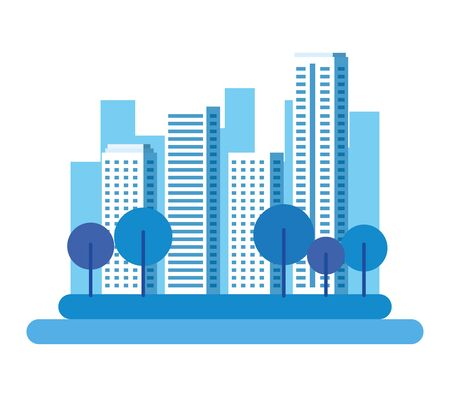 park with cityscape background vector illustration design Banque d'images - 132923349