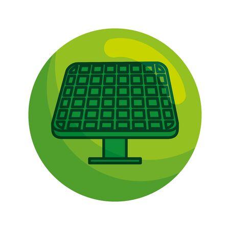 solar panel energy ecology vector illustration design  イラスト・ベクター素材