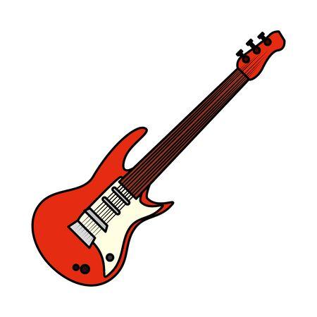 Diseño de ilustración de vector de instrumento musical de guitarra eléctrica