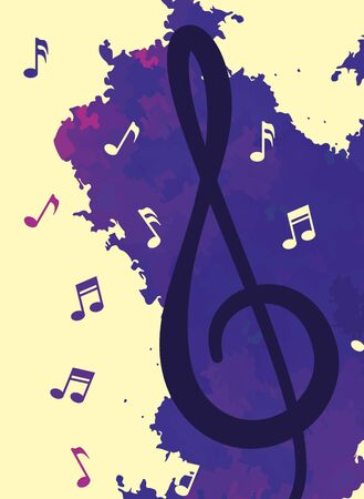 music notes pattern background vector illustration design