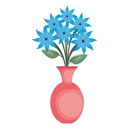 vase with flowers icon vector illustration design Ilustrace