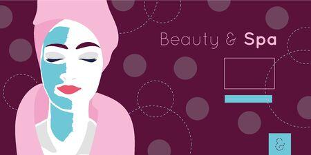 beauty and spa card with woman vector illustration design Ilustração