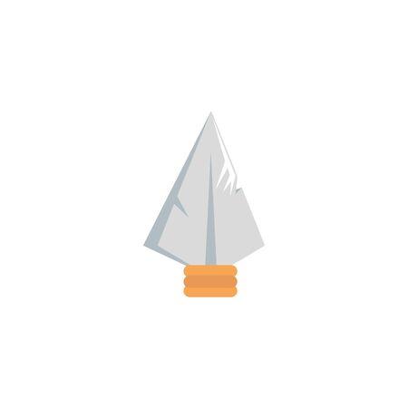 fairytale spearhead fantastic isolated icon vector illustration design  イラスト・ベクター素材