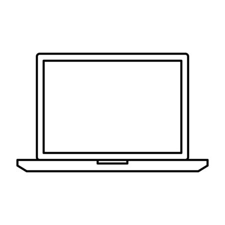 laptop computer technology isolated icon vector illustration design