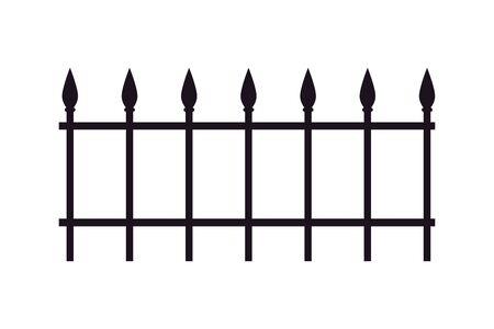Cimetière de fer clôture icône isolé vector illustration design